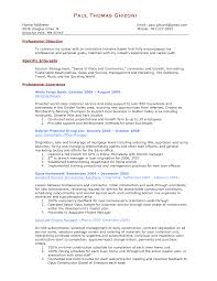 Construction Objective For Resume Personal Banker Resume Professional Objective Personal Banker 98