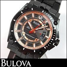 watch store kato tokeiten rakuten global market ★ bulova bulova bulova 98b143 precisionist precisionist champlain champlain mens watch men s watches rose gold black black