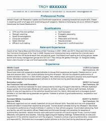 Resume Coach Delectable Athletic Coach Resume Sample Resumes Misc LiveCareer