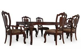 Seven Piece Traditional 106 Dining Set in Rich Pomegranate