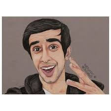 jj s drawing of ethan in the sidemen book