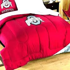 ohio state bedroom set bedding bed sheets full buckeyes twin queen