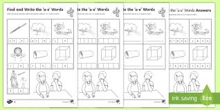 Check out our different sets of worksheets that help kids practice and learn phonics skills like beginning sounds, rhyming and more. Find And Write The U E Words Differentiated Activity Sheets