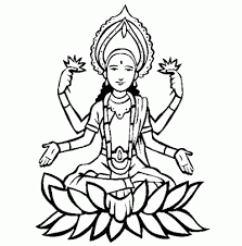 Small Picture Hindu Goddess Laxmi Ji Coloring Pages of Diwali I Love to Color