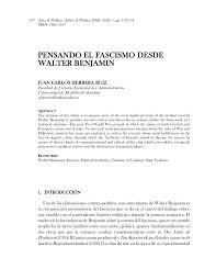 PDF) Pensando el fascismo desde Walter Benjamin