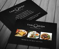 Visiting Card Design For Catering Services Catering Business Card Design For Thai Dish By Smart Designs