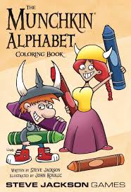 They will help to remember the alphabet, numbers, and account on the associative level. The Munchkin Alphabet Coloring Book Steve Jackson Games Munchkin Drivethrurpg Com