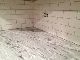 Backsplash Subway Tile Gray Grout Kitchen Tiles Kitchen