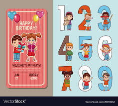 kids birthday party invitations kids birthday party invitation card