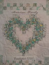 Wedding Quilt Patterns Adorable Family Heart Quilt Quilts Pinterest Etsy Weddings And Wedding