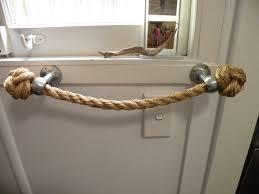 Handmade Bathroom Accessories Toilet Roll Holder Nautical Decor Handmade Manila Rope Brass Or
