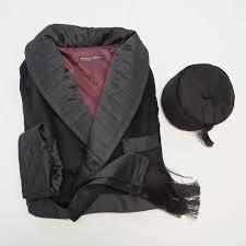 Black velvet smoking cap and men's dressing gown - Baturina Homewear & Mens classic black velvet robe quilted silk dressing gown victorian smoking  cap with tassels elegant. Adamdwight.com