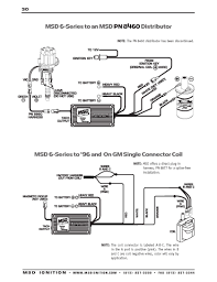 msd ignition wiring diagrams msd 6 series to gm 96 and on single connector coil