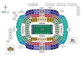Ravens Stadium Seating Map Ravens Seat Map Maryland Usa