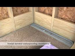 streamline linear shower drain installation full mortar and thin bed you
