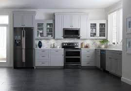 black and stainless kitchen black and stainless steel behold the samsung black stainless steel collection photo via cnet