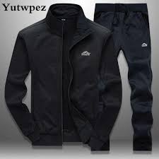 New <b>Men's</b> Set <b>Spring Autumn Men</b> Sportswear 2 Piece Set Sporting ...