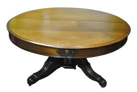antique rococo round walnut dining table 63 diam to 10 ft long oval