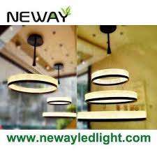 big ring led pendant light modern acrylic suspension led circle lamp images