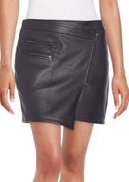 bcbg max azria bcbgmaxazria lizzy leather wrap skirt