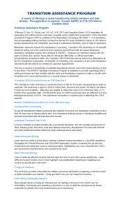 Usafa Support Afrc Transition Assistance