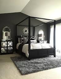 Bedroom ideas with black furniture Gray Go Monochrome In Your Bedroom By Decorating Black Bed With White Decorative Pillows Include Mirrors Throughout Your Bedroom To Add Light To The Room Shutterfly 75 Stylish Black Bedroom Ideas And Photos Shutterfly
