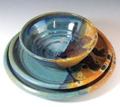 handmade stoneware dinner sets uk. stoneware blue and brown dinnerware set handmade for by claycoyote 7800 pottery dinner sets uk