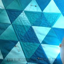 516 best Free Motion Quilting Tips, Tutes & Vids images on ... & Amy's Free Motion Quilting Adventures: Quilting with Rulers: Ombre  Triangles Continue Adamdwight.com