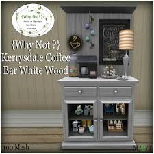 Shop wayfair for the best coffee bar hutch. Second Life Marketplace Why Not Kerrysdale Coffee Bar White Wood Boxed