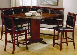 tall dining chairs counter: furniture amusing black dining bench with back design brown wooden table single leg plus l shaped