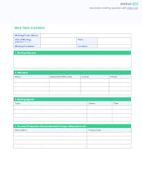 Creating A Powerful Meeting Agenda 4 Best Templates