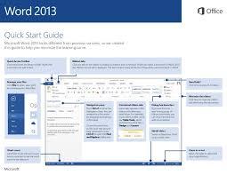 Office 2013 Word Templates Microsoft Word 2013 Quickstart