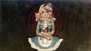 2944758 1920x1080 Artwork Alice In Wonderland Tattoo Wallpaper And