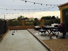 grow land bocce designs bocce court w lighting 111614