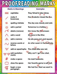 Printable Editing Marks Chart Proofreading Marks Worksheet Proofreading Marks Chart