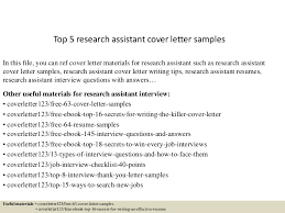 top5researchassistantcoverlettersamples 150618083049 lva1 app6892 thumbnail 4jpgcb1434616304 sample research assistant cover letter
