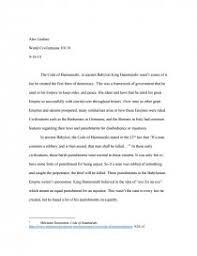 the code of hammurabi essay zoom