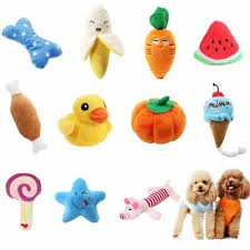 <b>pawstrip 1pc</b> Plush Dog <b>Toys</b> Squeaky Bone Ice Cream Carrot ...