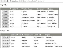 Programmers Sample Guide: jQuery manipulate Table using detach() and ...