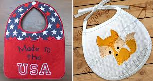 The Cutest Baby Embroidery Designs & baby bibs in the hoop and qpplique Adamdwight.com