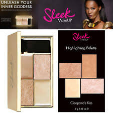 sleek makeup cleopatra highlighting palette shimmer powder cream highlighter