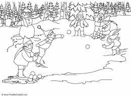 Kleurplaat Elfjes Sneeuwballen Gooien Afb 6905 Images