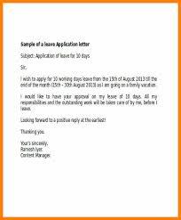 Application For Leave To Manager Apply Leave Letter Formal Leave Application Letter Jpg World Wide