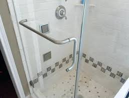 glass shower door towel bar bracket sewing patterns with for designs 8