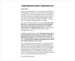 february newsletter template 9 monthly newsletter templates free sample example format