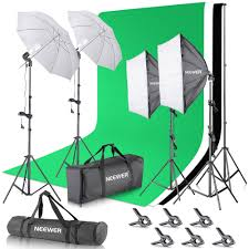 2 6m x 3m 8 5ft x 10ft background support system and 800w 5500k umbrellas softbox continuous lighting kit for photo studio portrait and shoot