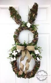 Easter Bunny Wreath, Cotton Wreath, Bunny Wreath, Easter Wreath, Rabbit  Wreath, Farmhouse Wreath, Farmhouse Door Hanger, Farmhouse Decor by ...