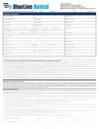 Rental Credit Application Fillable Online Credit Application Blueline Rental Fax