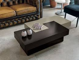 target point tetris modern coffee table in black and white or dove grey and brown