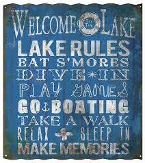 lake rules sign corrugated